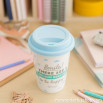 """Mug take away """"Smile! There are a million reasons to be happy! (ENG)"""