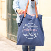 Tote bag - Happiness comes from within (ENG)