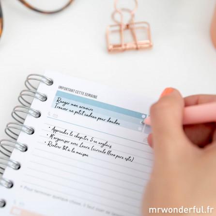 Agenda classique 2019-2020 Semainier - Je vais faire les choses bien (vraiment très bien !)
