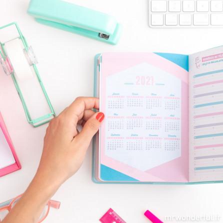 Agenda classique petit format 2019-2020 Modèle semainier - Des rêves, des rendez-vous et des projets