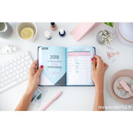 Agenda classique petit format 2018 - 2019 Modèle journalier - Tout ce que je promets de terminer (FR)