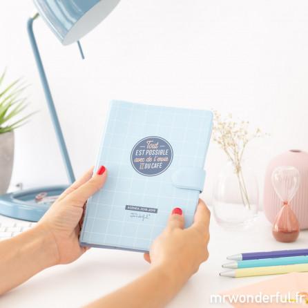 Agenda classique petit format 2018 - 2019 Modèle semainier