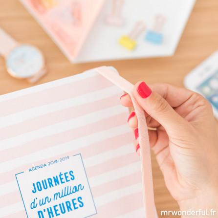 Agenda classique 2018-2019 Journalier - Journées d'un million d'heures