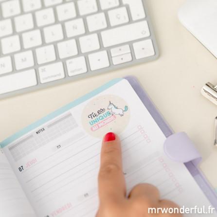 Agenda annuel petit modèle 2018 Semainier - La belle vie commence aujourd'hui (FR)