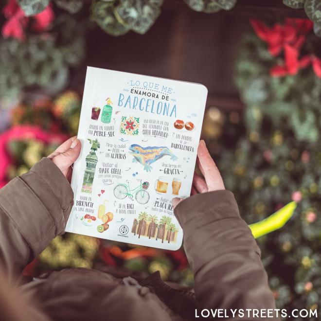 Caderno Lovely Streets - Lo que me enamora de Barcelona