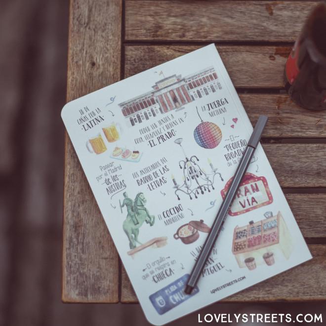 Caderno Lovely Streets - Lo que me enamora de Madrid