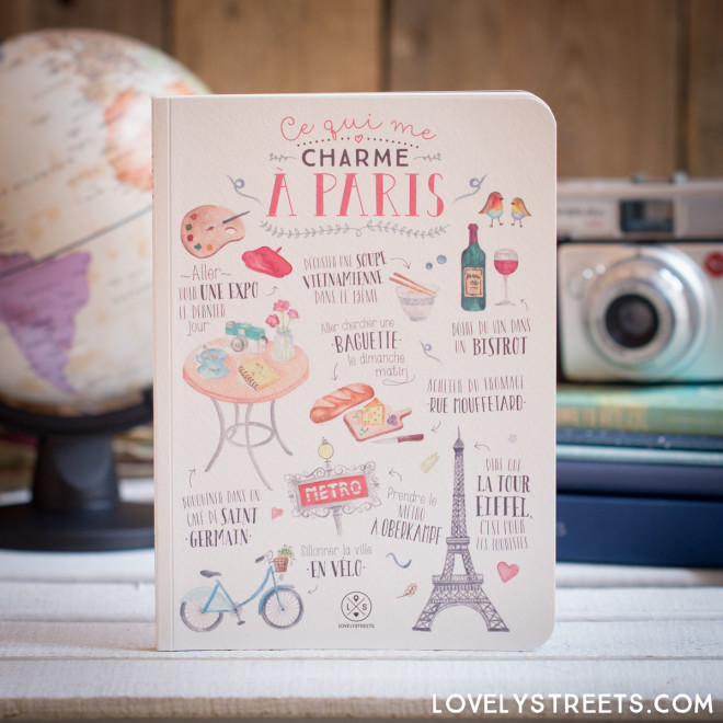 Caderno Lovely Streets - Ce qui me charme à Paris (FR)