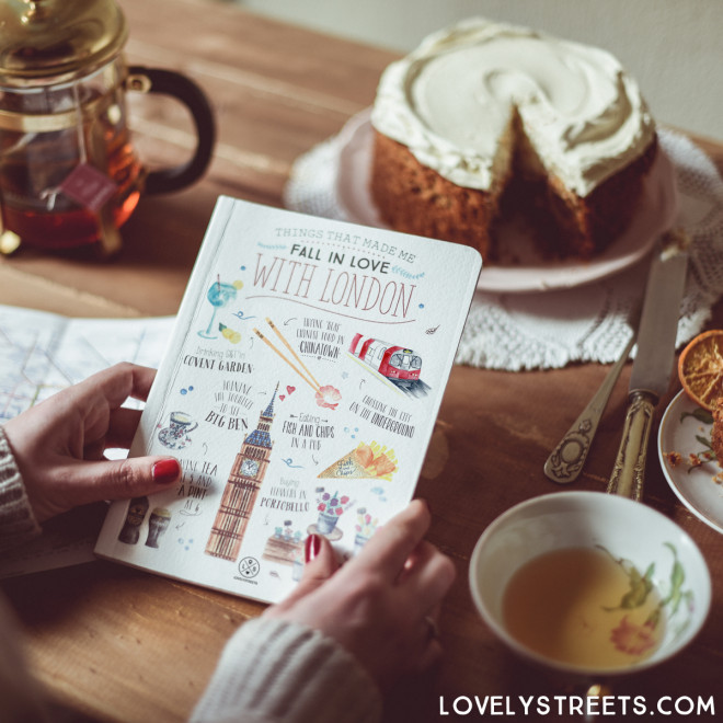 Caderno Lovely Streets - Things that made me fall in love with London (ENG)