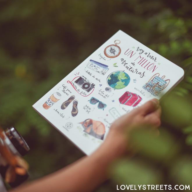 Caderno Lovely Streets - Hoy voy a vivir un millón de aventuras
