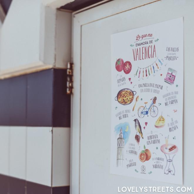 Póster Lovely Streets - Lo que me enamora de Valencia