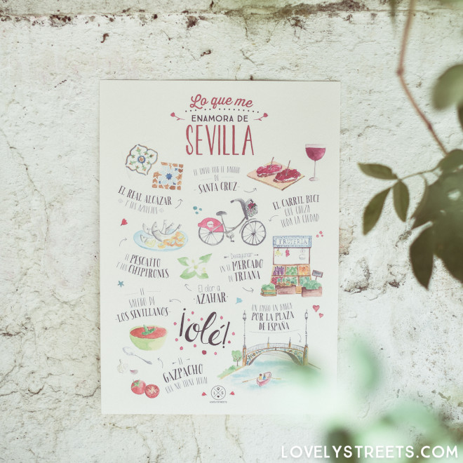 Póster Lovely Streets - Lo que me enamora de Sevilla