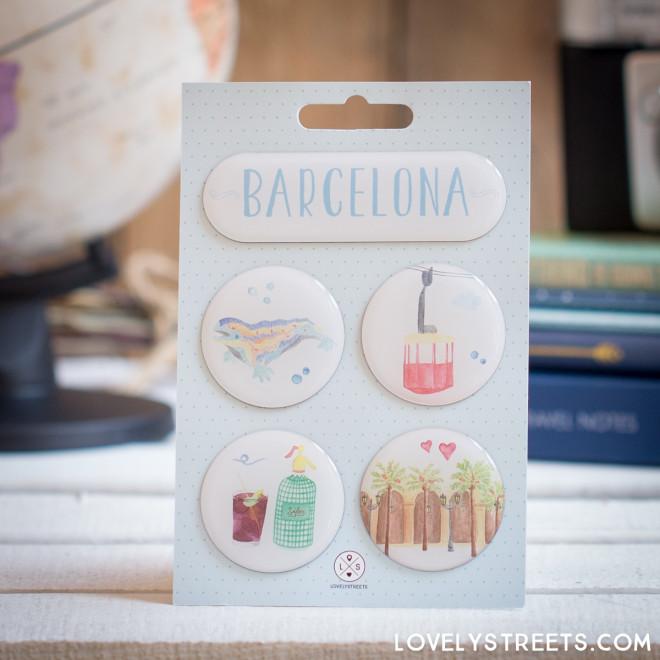 Ímanes Lovely Streets - Barcelona