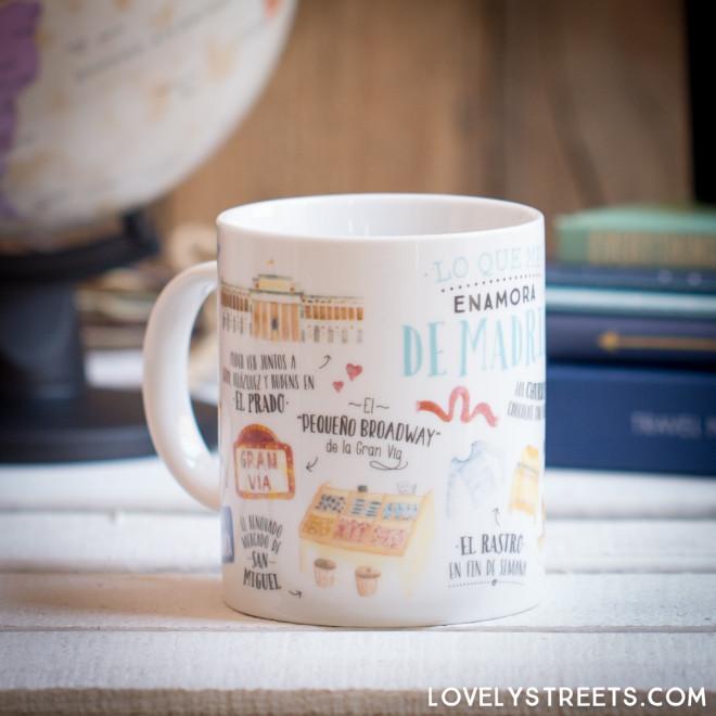 Caneca Lovely Streets - Lo que me enamora de Madrid