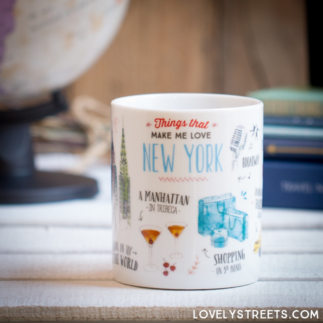 Caneca Lovely Streets - Things that make me love New York (ENG)