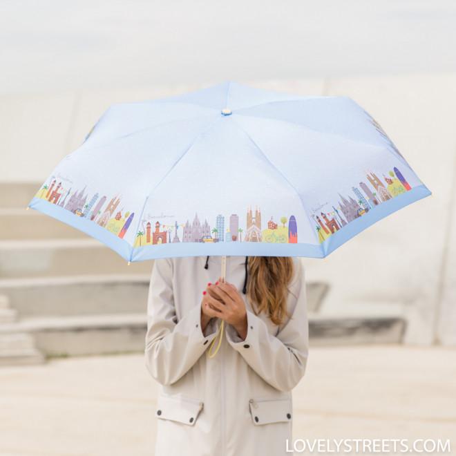 Guarda-chuva pequeno Lovely Streets - Barcelona