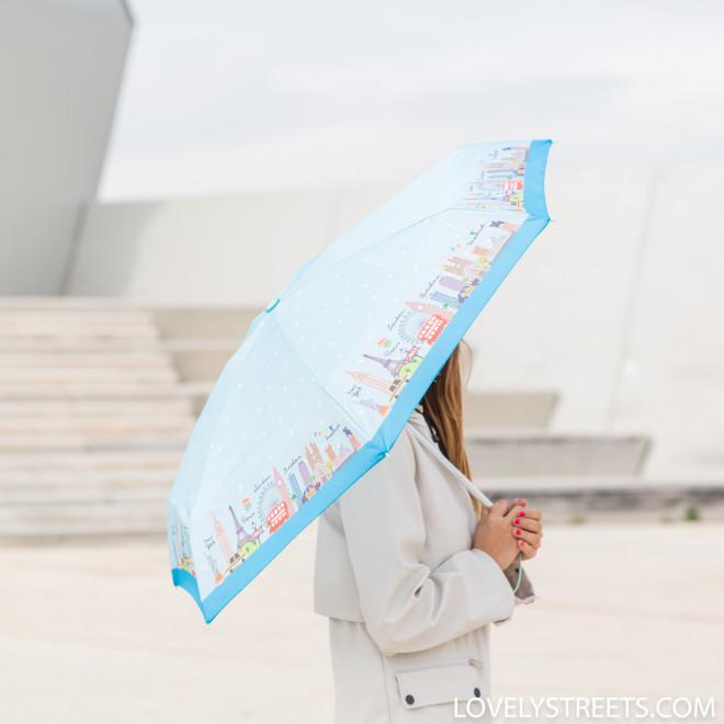 Guarda-chuva pequeno Lovely Streets - Multicidades