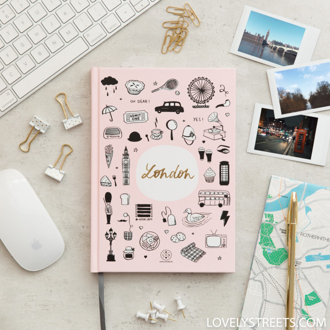 Caderno Lovely Streets - Sketch the world London