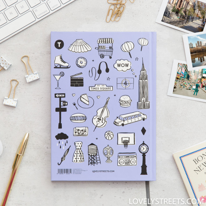 Caderno Lovely Streets - Sketch the world New York