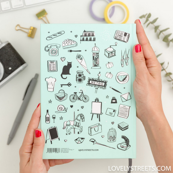 Caderno Lovely Streets - Sketch the world Paris