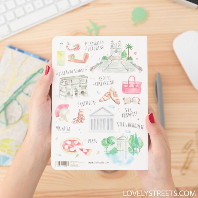Caderno Lovely Streets -Ciò che mi fa innamorare di Roma