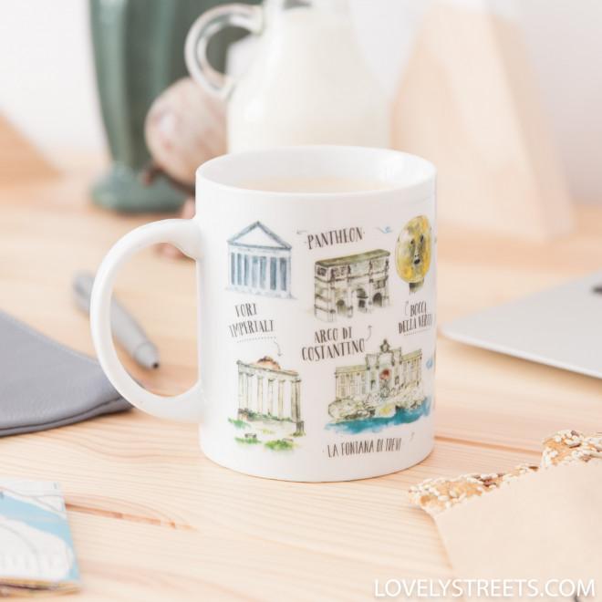 Caneca Lovely Streets - Ciò che mi fa innamorare di Roma