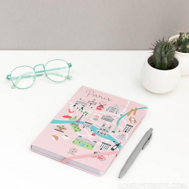 Libreta con ilustraciones de París