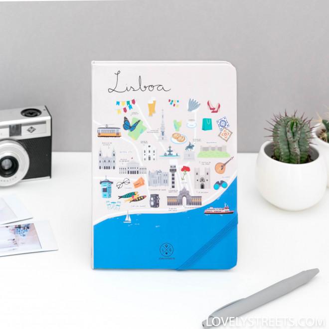 Libreta con ilustraciones de Lisboa