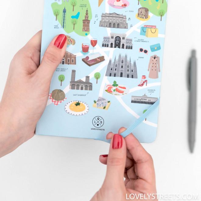 Libreta con ilustraciones de Milan