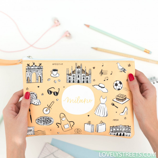 Bolsa Lovely Streets - Sketch the World Milano