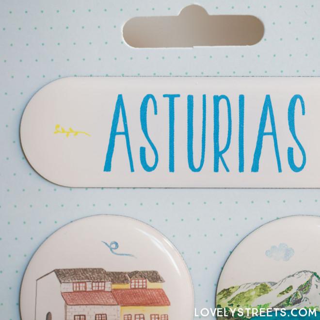 Ímanes Lovely Streets - Asturias