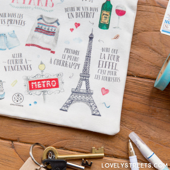 Bolsa Lovely Streets - Ce qui me charme à Paris (FR)