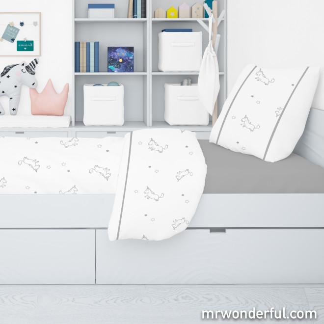 Jogo de lençóis cama de 90 cm - Unicorn lover