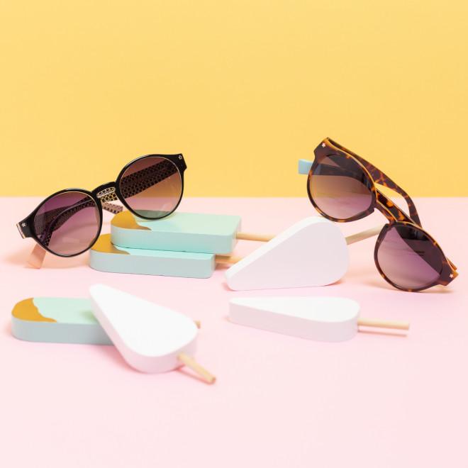 Gafas de sol Trendy inyección redondas - Habana
