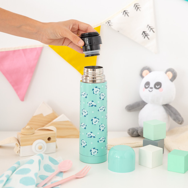 Termo de acero mint Saro Baby - Pandas
