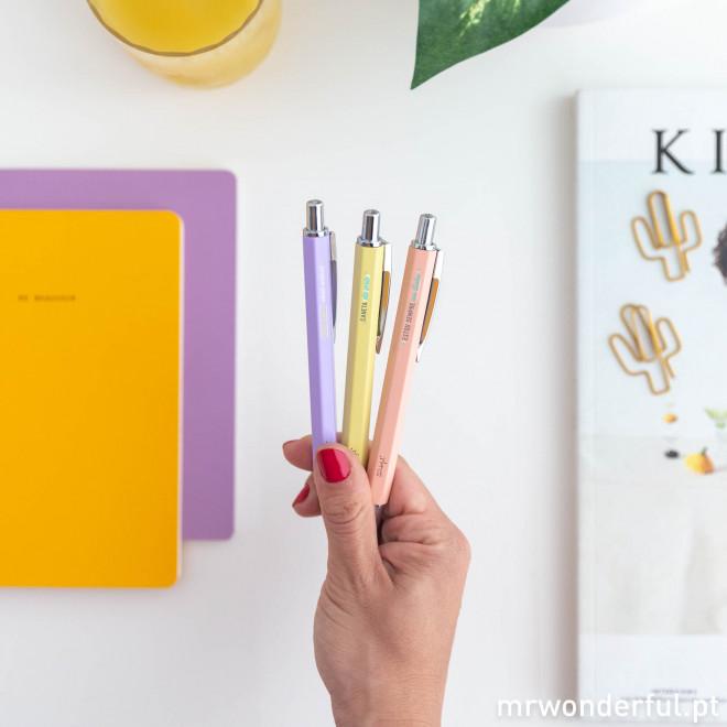 Set de 3 canetas