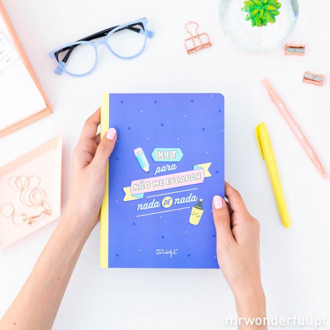 Caderno de autocolantes e notas adesivas