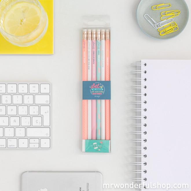 Pack de 6 lápis com a bateria bem carregada