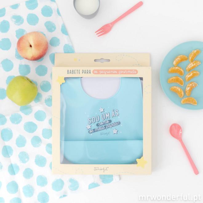 Babete de silicone para comer, crescer e desfrutar ao máximo