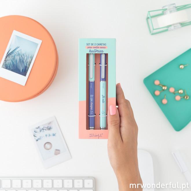 Set de 2 canetas para contar novas histórias