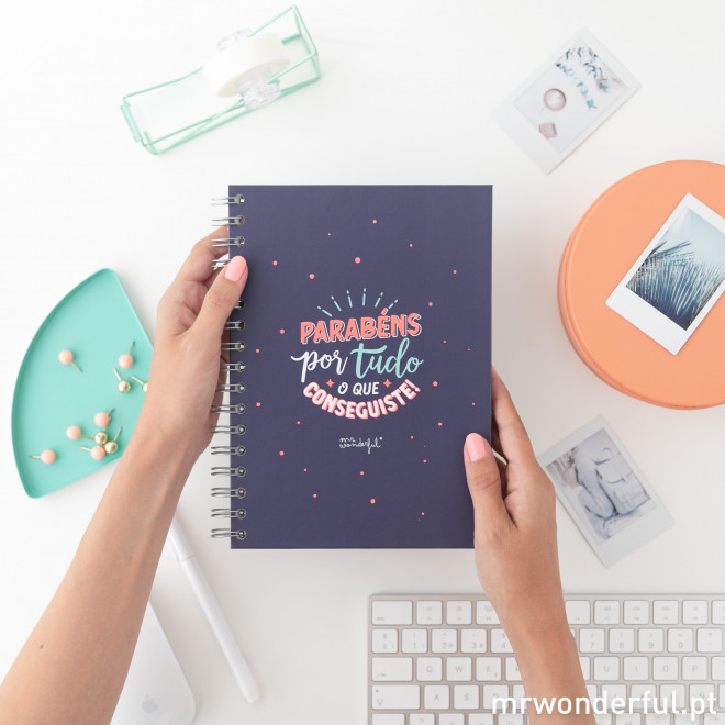 Caderno - Parabéns por tudo o que conseguiste!
