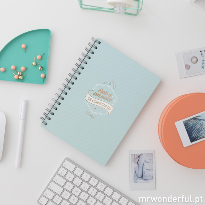 Caderno - Estás a um passo de consegui-lo