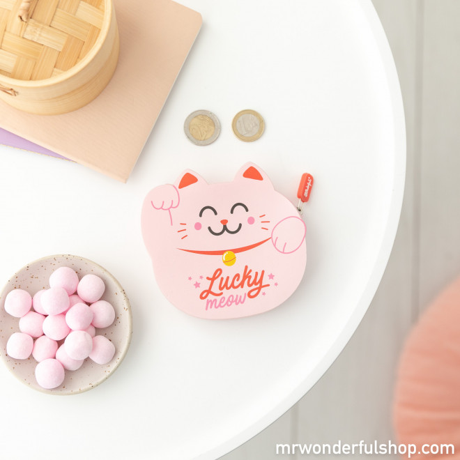 Porta-moedas com forma de Maneki-neko - Lucky Collection