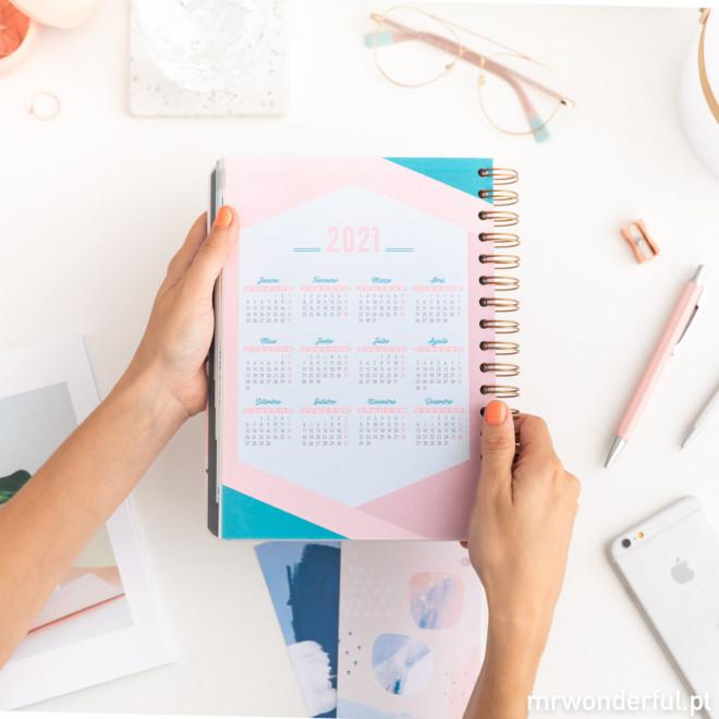 Agenda clássica 2019-2020 Vista diária