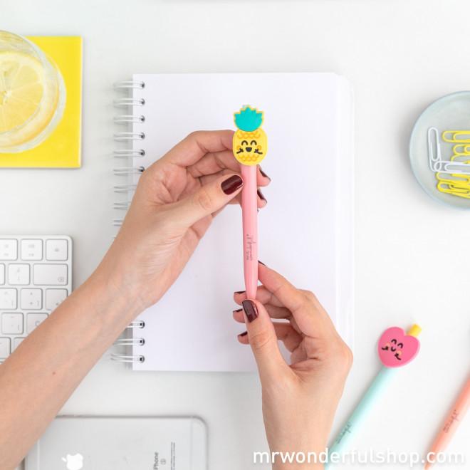 Conjunto de 3 canetas com formas