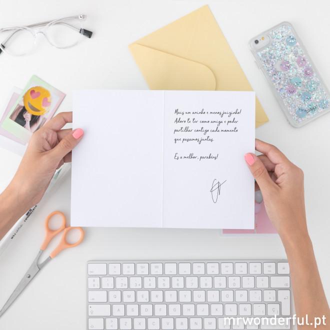 Postal - Hoje é dia de celebrar