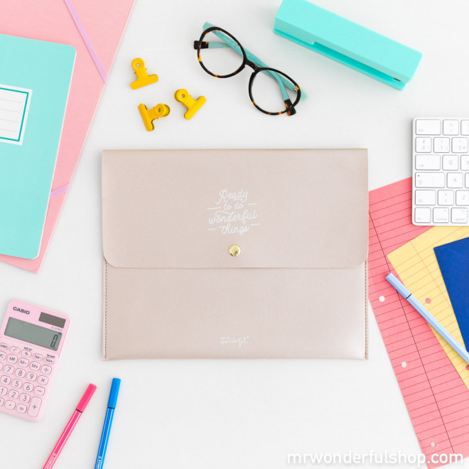 Funda para agenda grande - Ready to do wonderful things