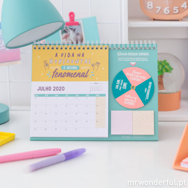 Calendário de mesa - 2020, vais ser o máximo!