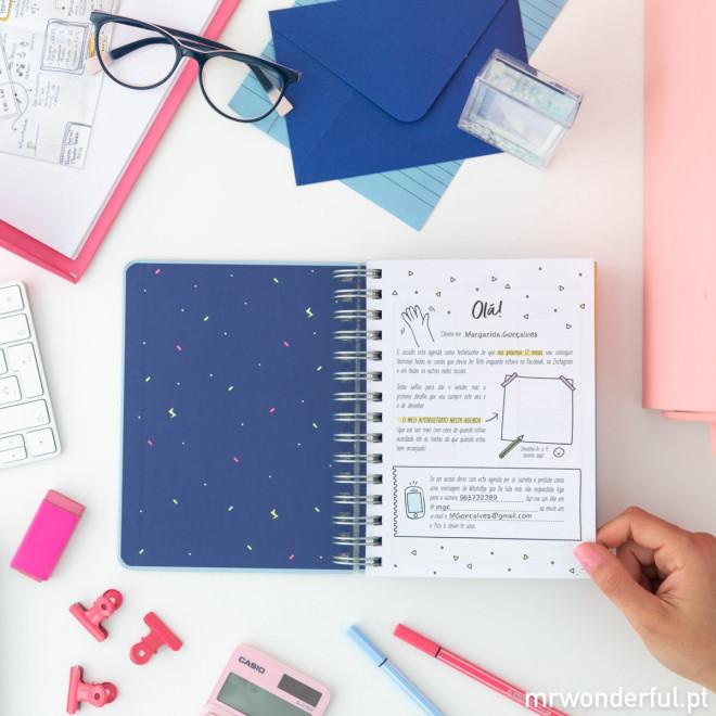 Agenda anual sketch 2020 Vista diária