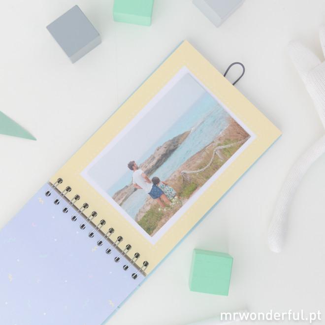Álbum de fotos para bebé azul - Momentos da