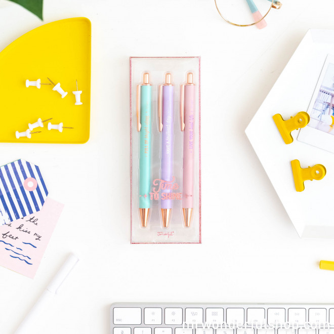 Set of 3 pens to write down brilliant ideas